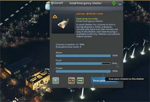 Cities Skylines: Natural Disasters - emergency shelter supplies