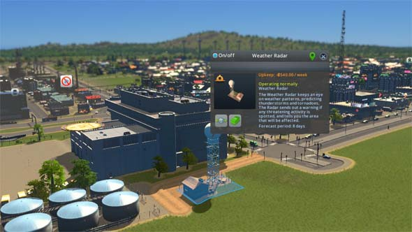 Cities Skylines: Natural Disasters - warning system