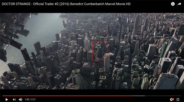 Avengers Tower in Doctor Strange