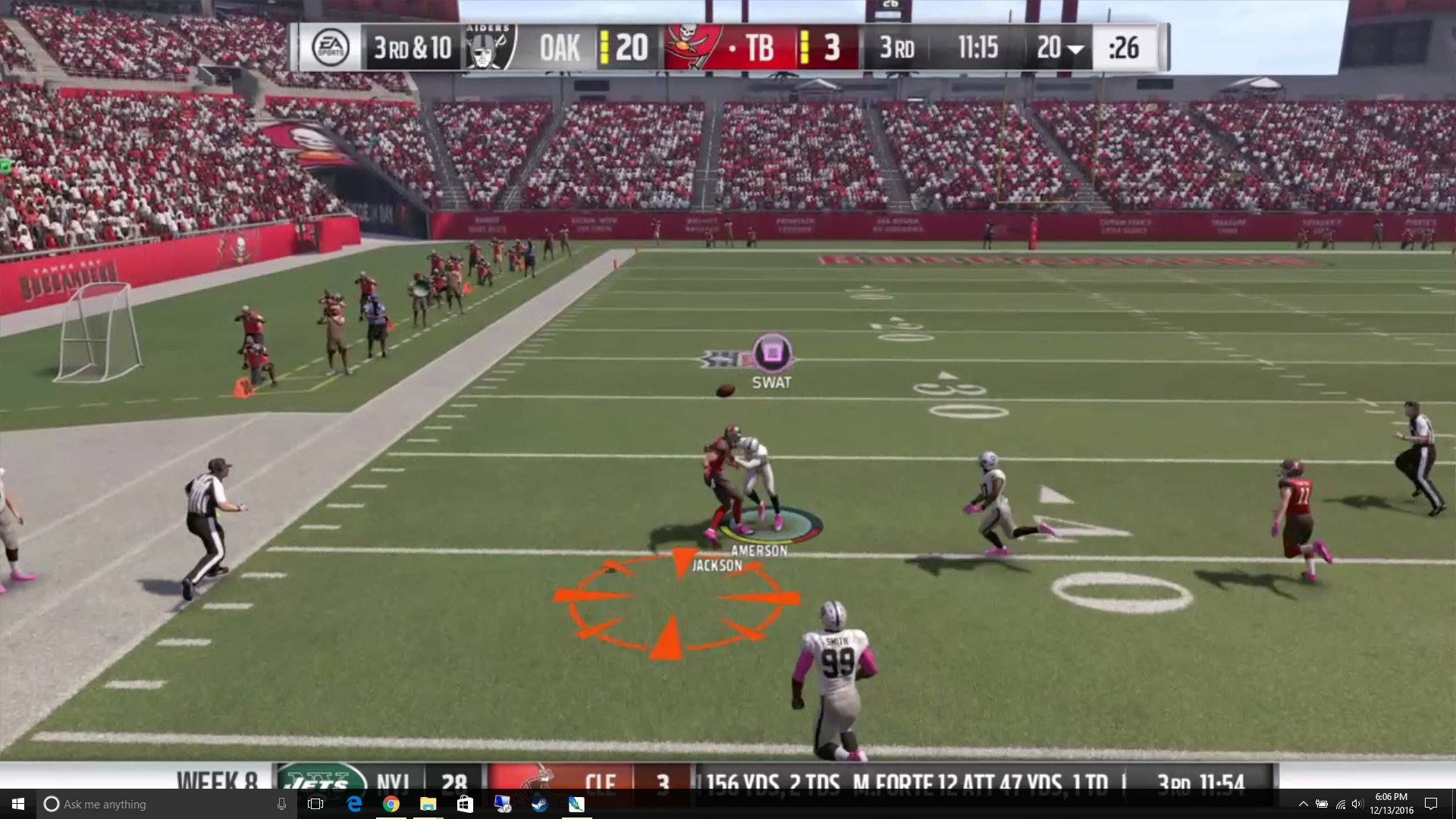 route running madden 18