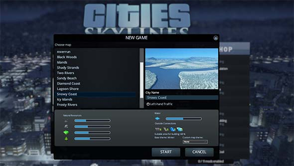 Cities: Skylines: Snowfall - snow maps