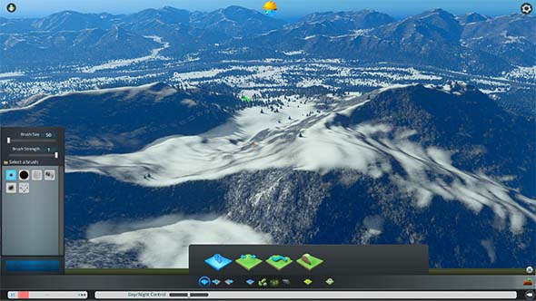 Cities: Skylines: Snowfall - mountainside mod
