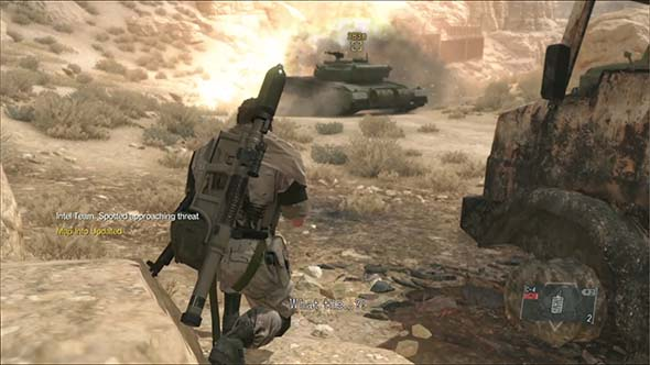 Metal Gear Solid V - ambushing a convoy