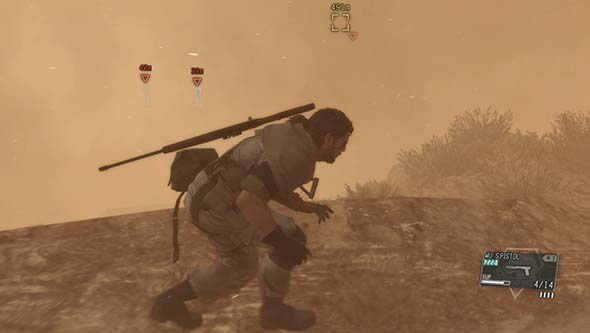Metal Gear Solid V - sand storm