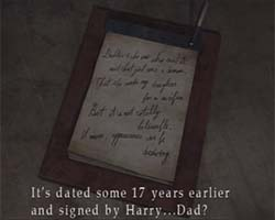 Silent Hill 3: Harry's memo (signed)