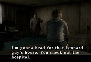 Silent Hill 3 - Heather and Douglas in motel