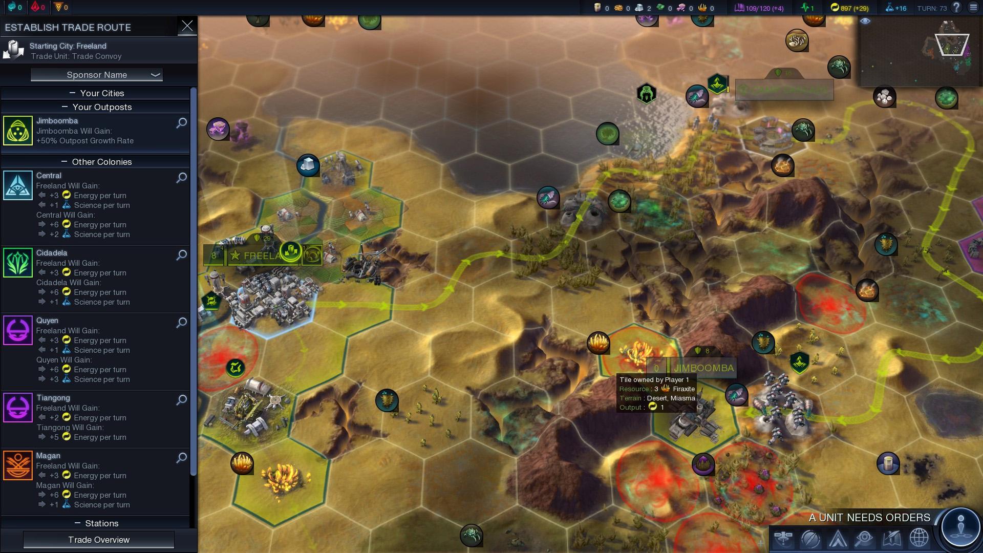 Civilization beyond earth trade slots
