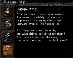 Dark Souls II: Scholar of the First Sin - Agape Ring