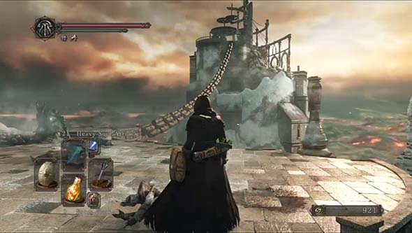 Dark Souls II: Scholar of the First Sin - approaching Brume Tower