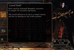 Dark Souls II: Scholar of the First Sin - Lizard Staff