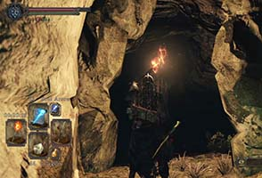 Dark Souls II: Scholar of the First Sin - Huntsman's Copse dark cave