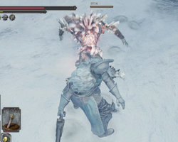 Dark Souls II: Scholar of the First Sin - covered in snow