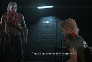 Metal Gear Solid V - Ocelot interrogates Eli