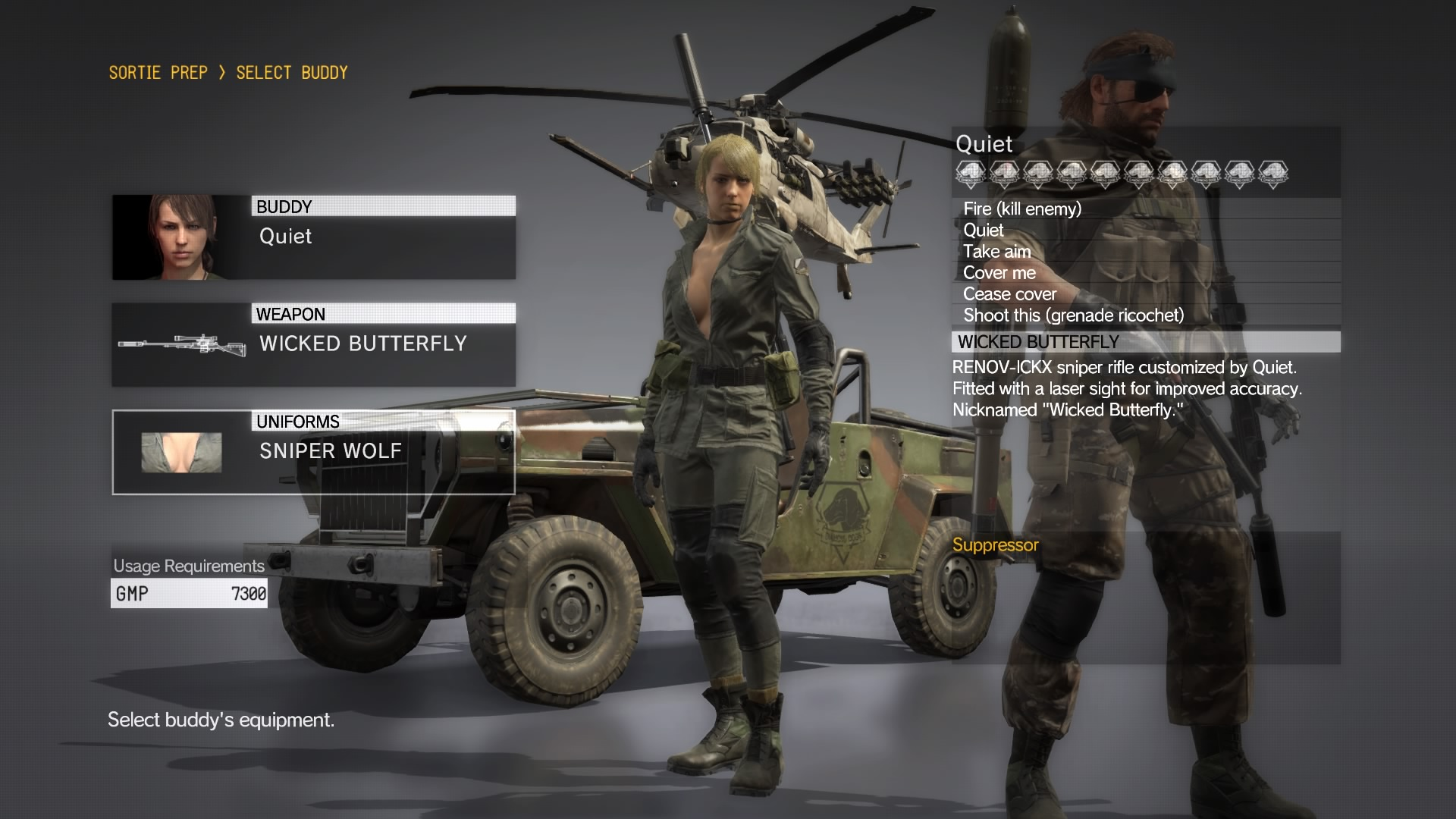 Metal Gear Solid V , Quiet / Sniper Wolf