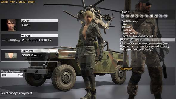 Metal Gear Solid V - Quiet / Sniper Wolf