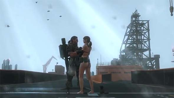 Metal Gear Solid V - Quiet and Snake embrace