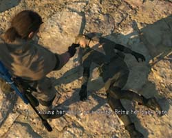 Metal Gear Solid V - capturing Sniper Wolf