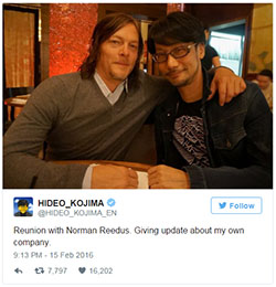 Hideo Kojima and Norman Reedus