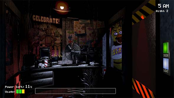 Five Nights at Freddy's - security door