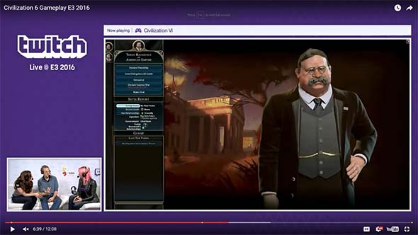 Civilization VI - diplomacy with Teddy