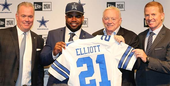 Cowboys draft Ezekiel Elliot