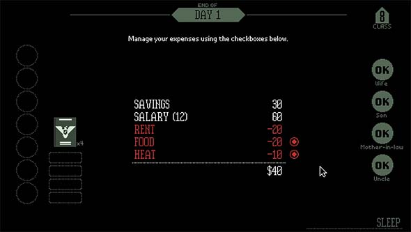 Papers, Please - day 1 expenses