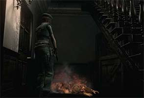 Resident Evil HD - burning zombie