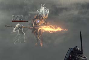 Dark Souls III - Nameless King charging lightning