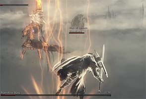 Dark Souls III - dodging Nameless King's lightning bolt