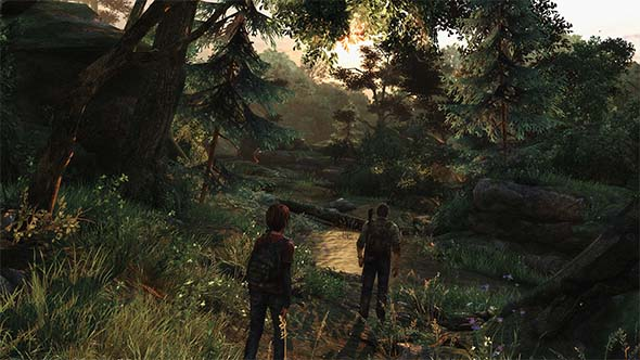 The Last of Us - Joel and Ellie traveling