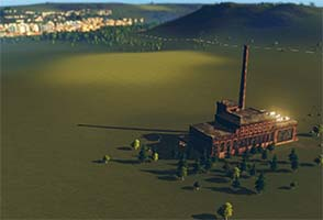 Cities Skylines: decrepit factory
