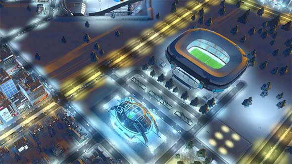 Cities: Skylines - stadiums