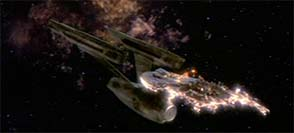 Star Trek III - Enterprise destroyed