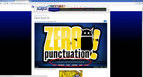 Zero Punctuation ad failure