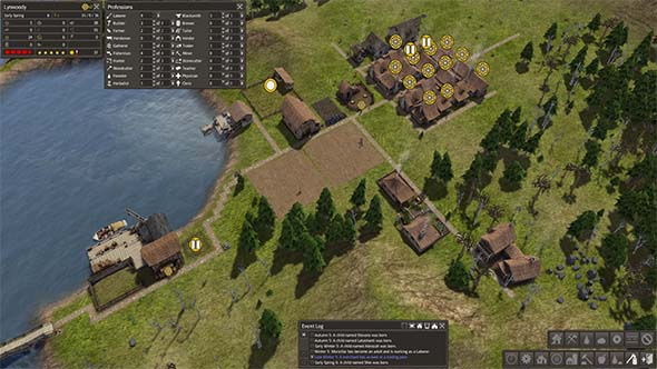 Banished - sub-optimal settlement