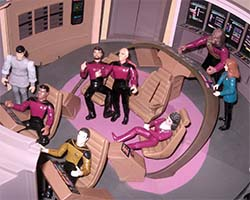 Star Trek Playmates toy bridge playset