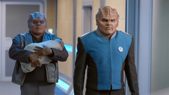 The Orville 'About a Girl' - Bortus, Klyden, and baby