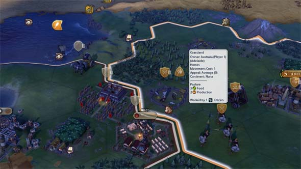 Civilization VI - can't annex districts and wonders
