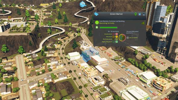 Cities: Skylines: Green Cities - residential and commercial specializations