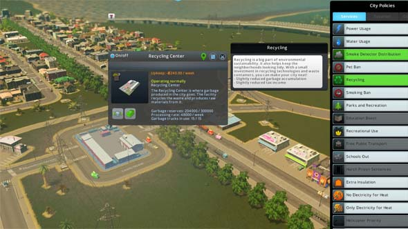 Cities: Skylines: Green Cities - recycling center