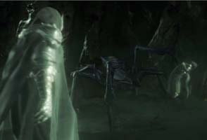 Middle-Earth: Shadow of War - Shelob fighting wraiths
