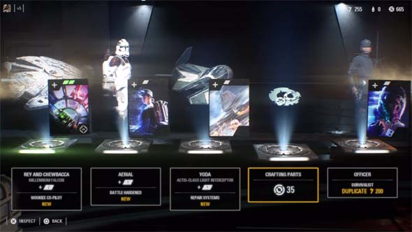 Star Wars Battlefront II - loot box