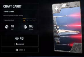 Star Wars Battlefront II - starfighter star card