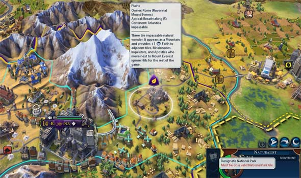 Civilization VI - Mt. Everest national park