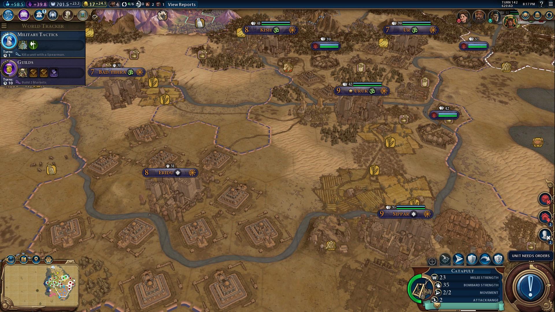 Gilgamesh is the first to civilize in Civilization VI | Mega