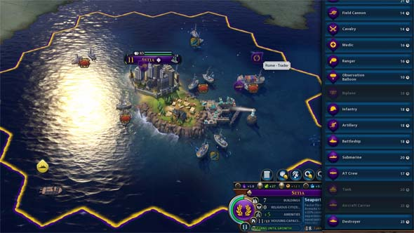 Civilization VI - island city