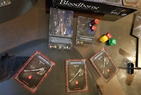 Bloodborne the Card Game - escaping monster (Micolash)