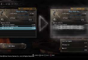 Nioh - equipment upgrades