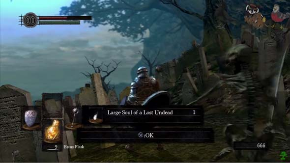 Dark Souls - item pick-up