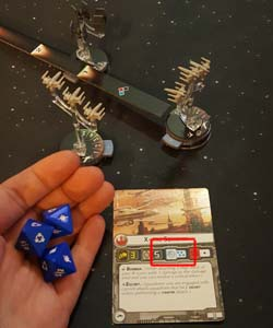 Star Wars: Armada - X-Wing attack dice